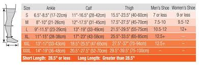 Legacy Graduated Compression Socks Size Chart Compression Stockings For Large Legs