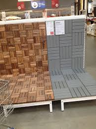 Wood Floor Tiles Ikea Deck Pinterest On Concept Design