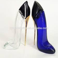 high heel glass spray perfume bottle for