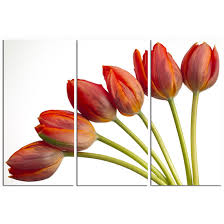 modern trend 3 panel red tulip wall art on white canvas decorative element for transition from on red tulip wall art with wall art amazing sample pictures tulip wall art modern trend 3