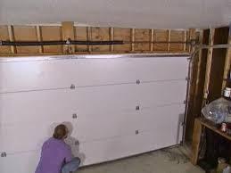 installing a garage door
