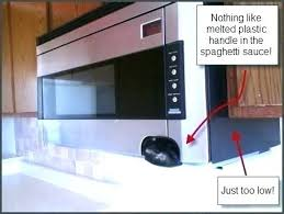 over stove microwave height. Beautiful Microwave Over The Range Microwave Height Stove Inside R