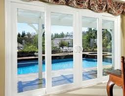 Fine Patio Doors Sliding Exterior 4 Panel Glass Door Malibu Vinyl With Models Design