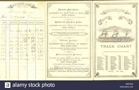 Track Chart For Anchor Line Transatlantic Service Stock