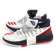 adidas basketball shoes damian lillard. adidas dame 3 j white/scarlet/navy bw1101 kids damian lillard basketball shoes