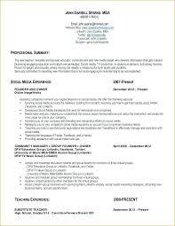 Substitute Teacher Resume Inspiration 9020 Substitute Teacher Resume No Experience Ecozen
