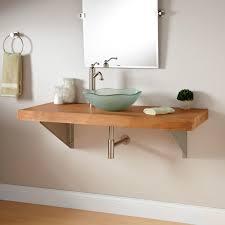 bathroom vanity with vessel sink mount 355686 l teak wall mount vanity  triangle bracket cTFNHR