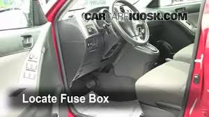 interior fuse box location toyota matrix toyota interior fuse box location 2003 2008 toyota matrix 2006 toyota matrix 1 8l 4 cyl good advice interiors videos and toyota