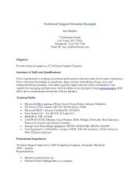 Technical Support Resume Samples It Resume Cover Letter Sample