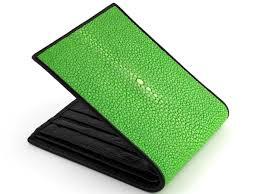 wallet stingray green