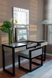 bathroom vanities with makeup table. Excellent Furniture Modern Black Bathroom Vanity With White Porcelain Sink Makeup Table. Vanities Table