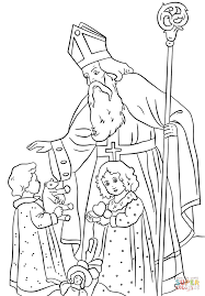 Small Picture St Nicholas Greets Children coloring page Free Printable