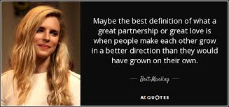Amazing 5 fashionable quotes by brit marling pic French via Relatably.com