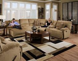 sectional sofa with chaise and recliner. Interesting Sofa Geometric Rug Under Angled Coffee Table Brown Sectional With Chaise And  Reclaimer Design Sofa Recliner
