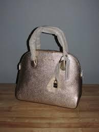 upc 190864737010 product image for michael kors studio mercer large metallic leather dome satchel pale gold