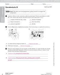 Choose from 500 different sets of unidad 2 leccion 1 ar verbs flashcards on. Vocabulario A 1 Que Necesito Para Viajar Subraya La Mejor Expresion Entre Parentesis Para Completar Pdf Descargar Libre