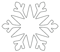 Blank Snowflake Template Free Printable Snowflakes Snowflake Pattern Picture And