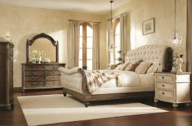 King Sleigh Bed Bedroom Sets Bedroom Decorative Fabric Bedding White Modern Panel Bed Stained