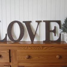 metal letters rusty love sign wall art decor wood vintage style da770a0c