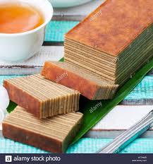 Traditional Indonesian Sweet Lapis Layer Cake Stock Photo 135391895