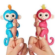 Amazon.com: Fingerlings Interactive Baby Monkeys 2 Pack- Bella (Pink ...