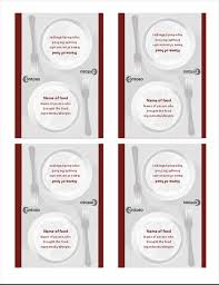 Microsoft Office Table Tent Template Tent Cards