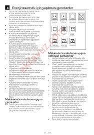 Arçelik 2760 KT Çamaşır Kurutma Makinası - Kullanma Kılavuzu - Sayfa:38 -  ekilavuz.com