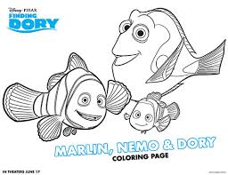 Free Printable Finding Dory Coloring Pages Game On Mom