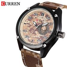 kingdom of timezone watches guide unique curren military quartz watches men sports wrist watch canvas strap army man watches relogio