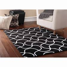 5 gallery black and white area rugs