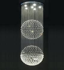 big ball chandelier double floating crystal ball chandelier large glass ball chandelier