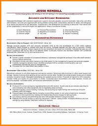 Bookkeeping Resume Full Charge Bookkeeper Resume Cover Letter For Bookkeeper