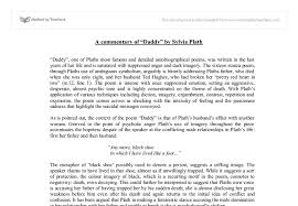 sylvia plath a level english marked by teachers com document image preview