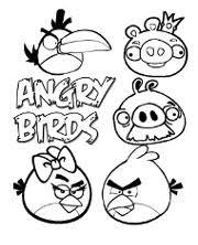 angry birds free coloring pages to print