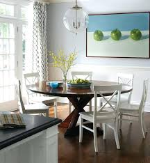 dark wood dining table white chairs image ideas