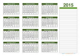 Calendario 2015 Para Imprimir Gratis