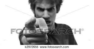怒る 人間が指さす 指 において あなた ストックフォト写真素材