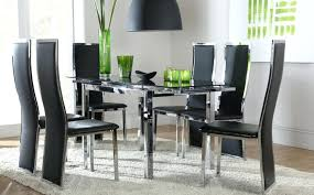 round glass dining room sets glass dining room chairs 6 seat dining table set formal