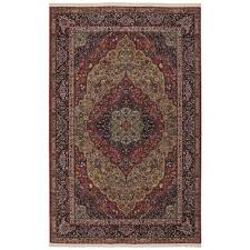original multi colored rectangular 5 ft 9 x 9 ft rug