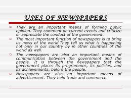 internet the death of newspapers 12 uses of newspapers