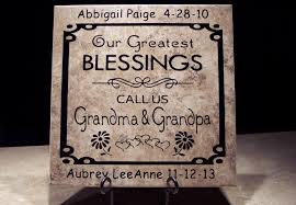 Personalized Tile For Grandma And Grandpa Oreilly Tiles