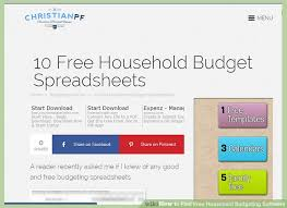 home budgeting software how to find free household budgeting software 12 steps