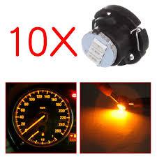 Yellow Light On Speedometer Amazon Com Scitoo Scitoo 10pcs T5 74 Light Bulbs Instrument