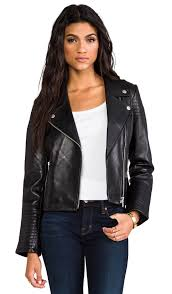 daniel leather moto with quilted sleeves daniel leather moto with quilted sleeves dakota collective