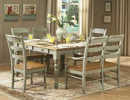 distressed dining table set