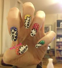 Crash! Zap! Pow! Comic Book Fight Nails - Keely's Nails