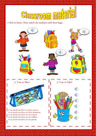 9 best Classroom Objects ESL English Worksheets images on ...