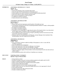 Anesthesia Technician Resume Sample Anesthesia Technician Resume Samples Velvet Jobs 1