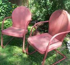 retro metal patio chairs. Vintage Metal Lawn Chair. 1950s Retro Patio Summer Chairs. Photography Print. Route 66 Motel Classics Chairs
