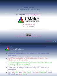 CMake Tutorial 8feb2012